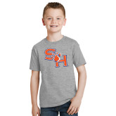 Youth Grey T-Shirt-SH Paw Official Logo