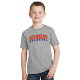 Youth Grey T-Shirt-Arched SHSU Bearkats