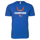 Next Level SoftStyle Royal T Shirt-Southland Conference Indoor Track and Field Champions