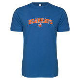 Next Level SoftStyle Royal T Shirt-Arched Bearkats w/Paw