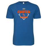 Next Level SoftStyle Royal T Shirt-2017 Southland Conference Baseball Champions