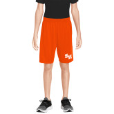 Youth Orange Competitor Shorts-Primary Athletics Mark