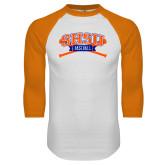 White/Orange Raglan Baseball T Shirt-Baseball Bats