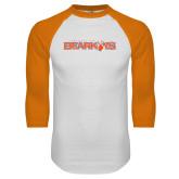 White/Orange Raglan Baseball T Shirt-Sam Houston Bearkats