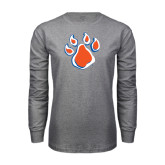 Grey Long Sleeve TShirt-Paw