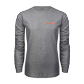 Grey Long Sleeve TShirt-Bearkats