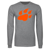 Grey Long Sleeve T Shirt-Secondary Athletics Mark