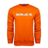 Orange Fleece Crew-Grow the Growl Horizontal