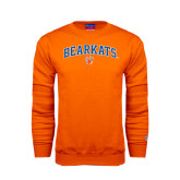 Orange Fleece Crew-Arched Bearkats w/Paw