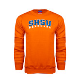 Orange Fleece Crew-Arched SHSU Bearkats