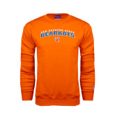 Orange Fleece Crew-Arched Sam Houston State Bearkats w/Paw