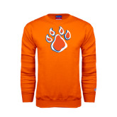 Orange Fleece Crew-Paw