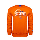 Orange Fleece Crew-Southland Conference Baseball Champions - Arched Version