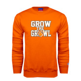 Orange Fleece Crew-Grow the Growl