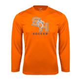 Syntrel Performance Orange Longsleeve Shirt-Soccer