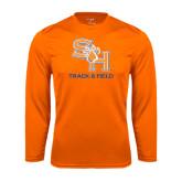 Syntrel Performance Orange Longsleeve Shirt-Track and Field