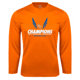Syntrel Performance Orange Longsleeve Shirt-2016 Southland Conference Champions Indoor Track & Field