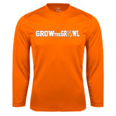 Syntrel Performance Orange Longsleeve Shirt-Grow the Growl Horizontal