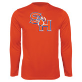 Syntrel Performance Orange Longsleeve Shirt-SH Paw Official Logo