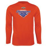 Syntrel Performance Orange Longsleeve Shirt-2017 Southland Conference Baseball Champions