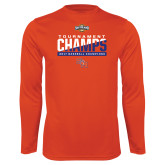 Performance Orange Longsleeve Shirt-2017 Southland Conference Baseball Champions