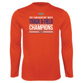 Syntrel Performance Orange Longsleeve Shirt-2017 Southland Conference Mens Track and Field