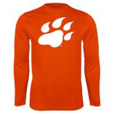 Performance Orange Longsleeve Shirt-Secondary Athletics Mark