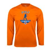 Syntrel Performance Orange Longsleeve Shirt-Golf Stacked
