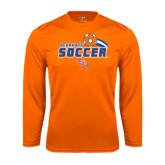 Syntrel Performance Orange Longsleeve Shirt-Soccer Swoosh