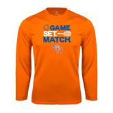 Syntrel Performance Orange Longsleeve Shirt-Tennis Game Set Match