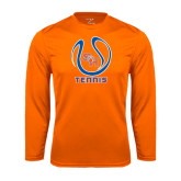 Syntrel Performance Orange Longsleeve Shirt-Tennis Ball