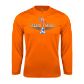 Syntrel Performance Orange Longsleeve Shirt-Track and Field Design