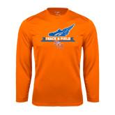 Syntrel Performance Orange Longsleeve Shirt-Track and Field Side Design