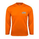 Syntrel Performance Orange Longsleeve Shirt-Arched SHSU