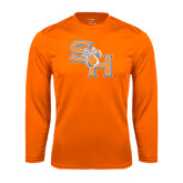 Syntrel Performance Orange Longsleeve Shirt-SH Paw Official Logo