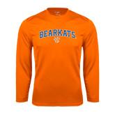 Syntrel Performance Orange Longsleeve Shirt-Arched Bearkats w/Paw