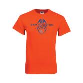 Orange T Shirt-Tall Football Design