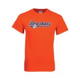 Orange T Shirt-Softball Lady Design