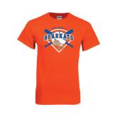 Orange T Shirt-Softball Design w/ Bats and Plate