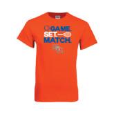 Orange T Shirt-Tennis Game Set Match