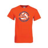 Orange T Shirt-Volleyball Stars Design