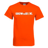Orange T Shirt-Grow the Growl Horizontal