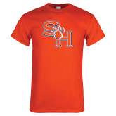 Orange T Shirt-SH Paw Official Logo Distressed