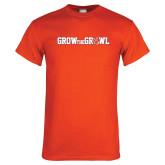 Orange T Shirt-Grow the Growl Horizontal