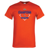 Orange T Shirt-2017 Southland Conference Baseball Champions