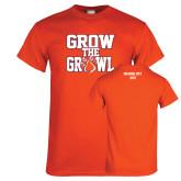 Orange T Shirt-Grow the Growl
