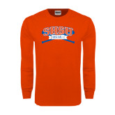 Orange Long Sleeve T Shirt-Baseball Bats