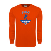 Orange Long Sleeve T Shirt-Golf Stacked