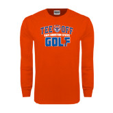 Orange Long Sleeve T Shirt-Golf Tee Off