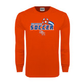 Orange Long Sleeve T Shirt-Soccer Swoosh